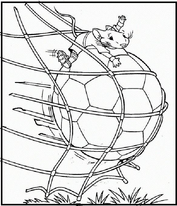 Stuart Little Being Goalkeeper Coloring Pages For Kids Printable