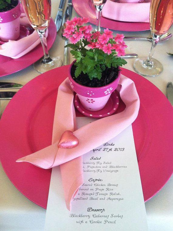 Painted Flower Pot Favors  Luncheons  by HappyMooseGardenArt, $3.00