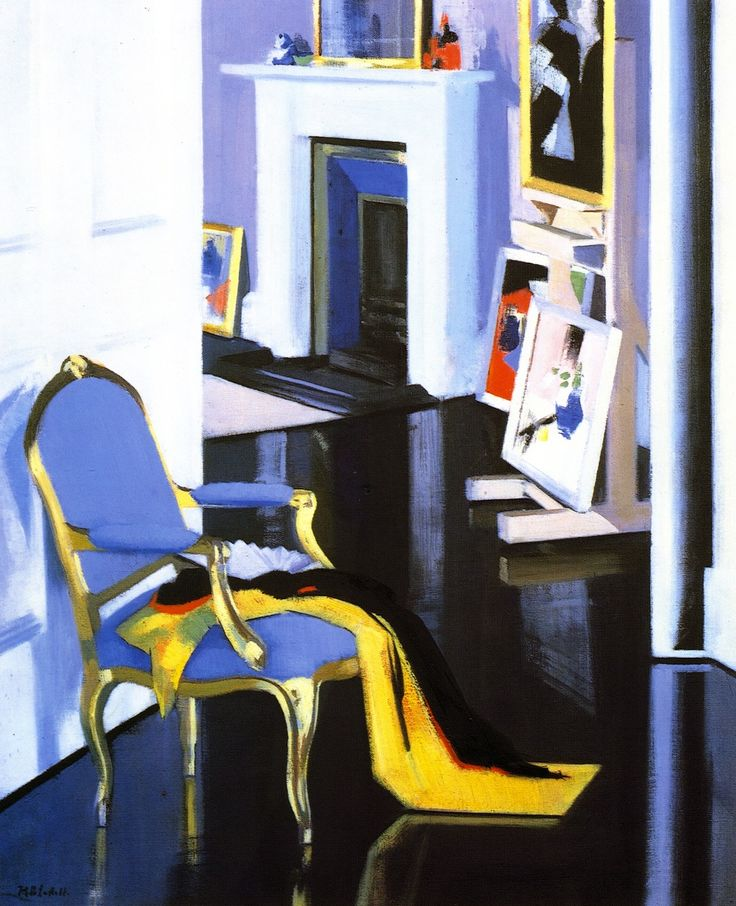 The Athenaeum - The Gold Chair (Francis Campbell Bolleau (F.C.B.) Cadell - ) These colors are so exquisite. TG
