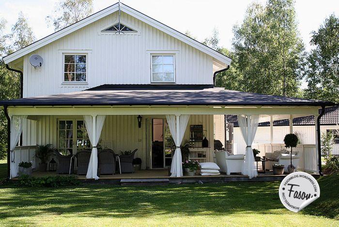 Fasonblog: veranda got a new roof. Porch / rustic / New England style / Coastal living /
