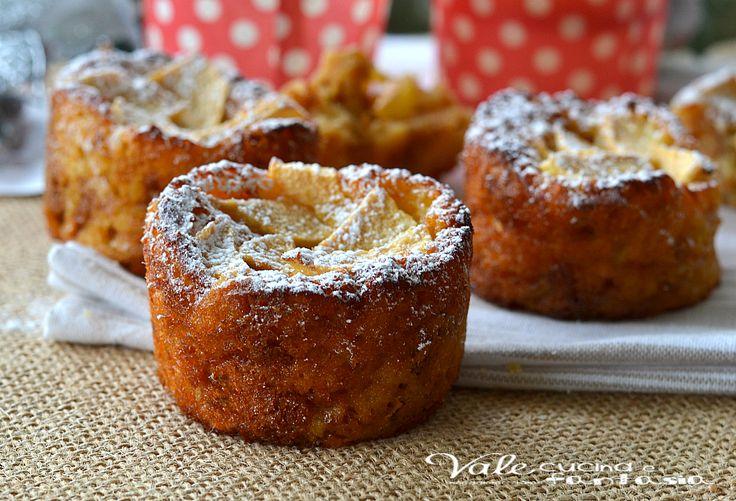 Muffin al pandoro e mele ricetta dolce facile