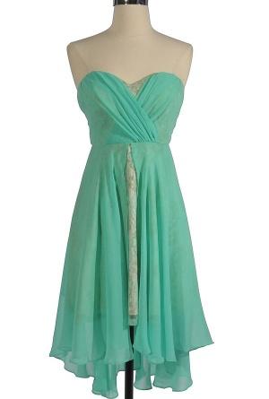 Mint-Summer Nights Dream Chiffon and Lace Designer Dress by Minuet...  Bridesmaid Dress??