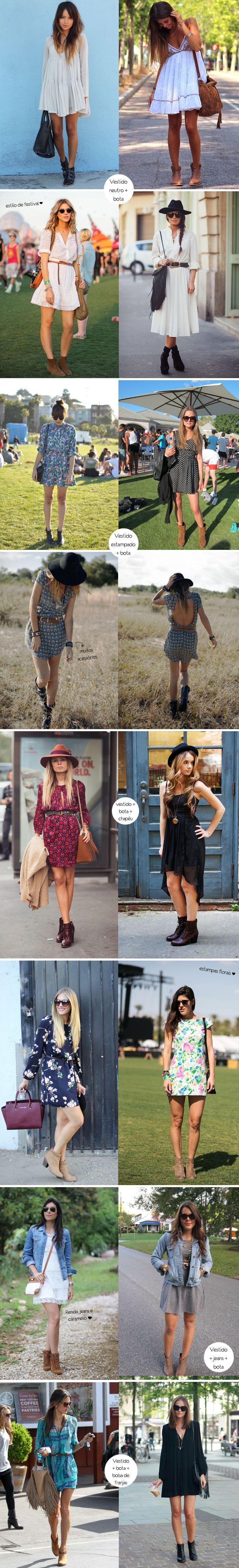 Inspiração como usar vestido + bota
