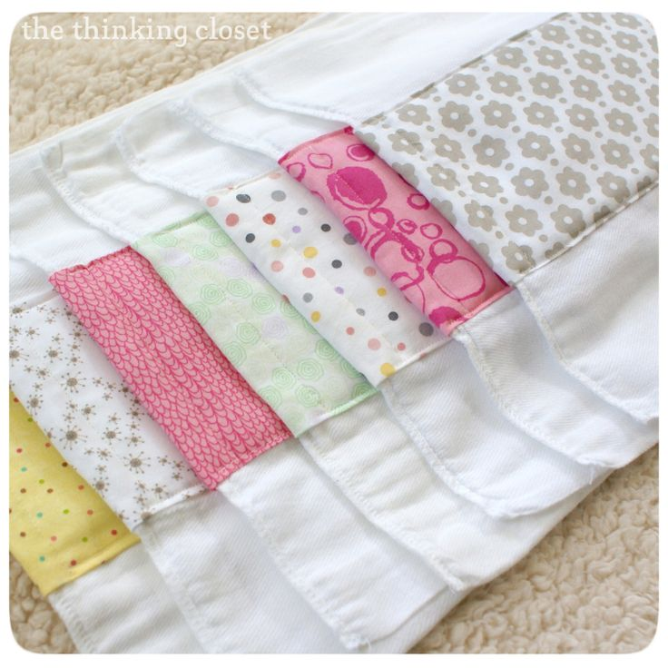Burp Cloth Tutorial - It would be great to embroider or applique a design on the fabric panel. Another idea is to use a soft, absorbent flannel as the middle panel. I'd finish the edges a bit differently too, but still a great tutorial.