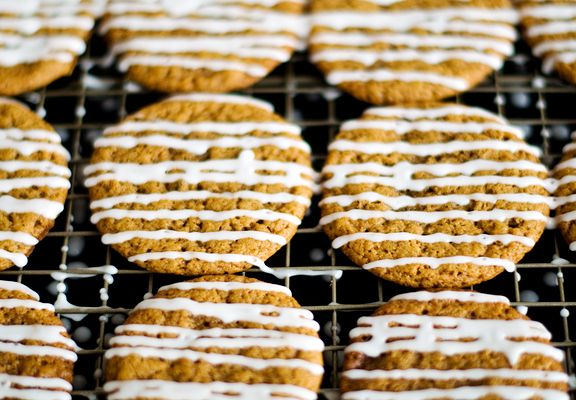 Iced Ginger Molasses Cookies | Food | Pinterest