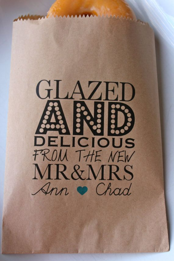 Glazed And Delicious Wedding Favor Bags Personalized