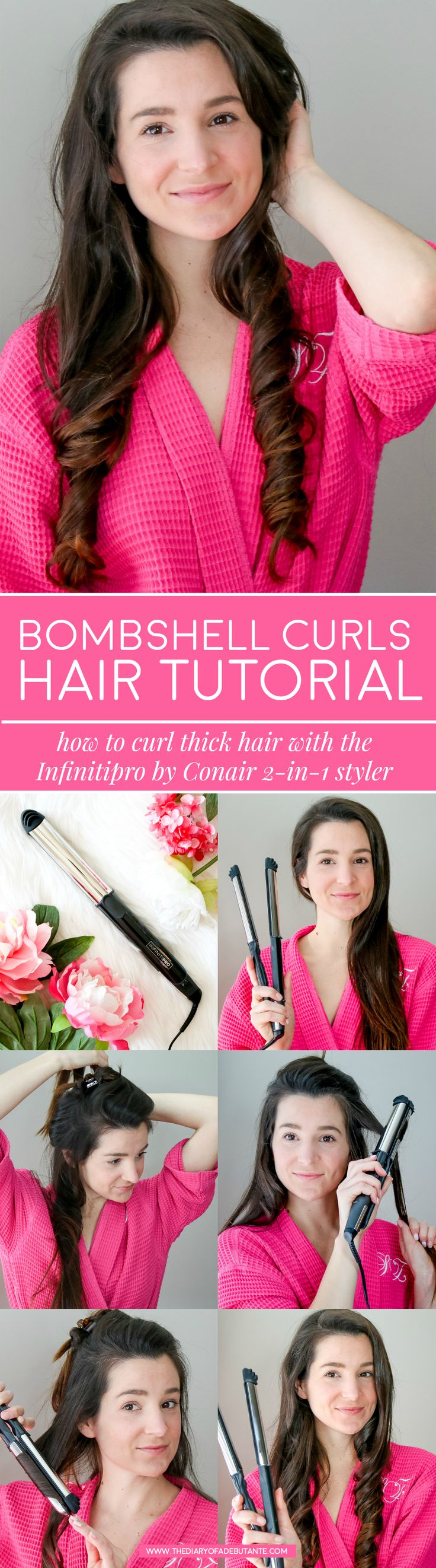 Conair 3Q blow dryer and Conair 2-in-1 styler review | How to use the InfinitiPRO by Conair 2-in-1 Styler | How to use the InfinitiPRO by Conair 3Q Compact Styler | The best blow dryer for thick coarse hair and best 2-in-1 styler from Conair | Conair's best hair styling tools for women | The Countdown to Styling: 2 Conair Styling tools Every Girl Needs to Try by blogger and retired beauty queen Stephanie Ziajka from Diary of a Debutante