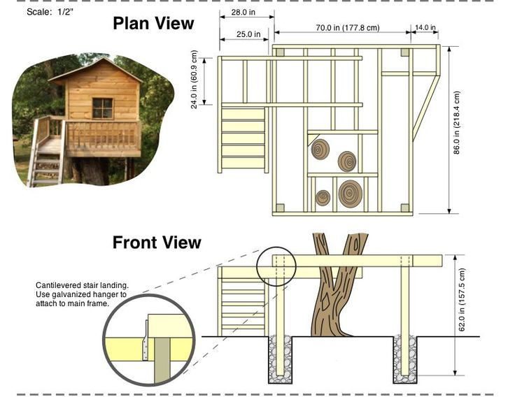 Tree house plans free building plans free shed plans House plan drawing