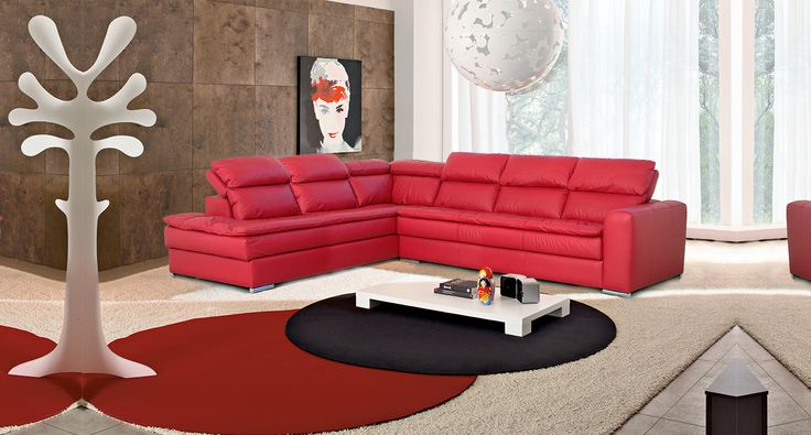 Oltre 25 fantastiche idee su divani in pelle rossa su for Divani rossi in pelle