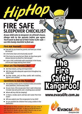 Download the How to Have a Fire Safe Sleepover Checklist