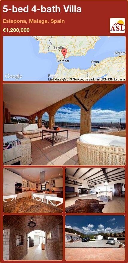 5-bed 4-bath Villa in Estepona, Malaga, Spain ►€1,200,000 #PropertyForSaleInSpain