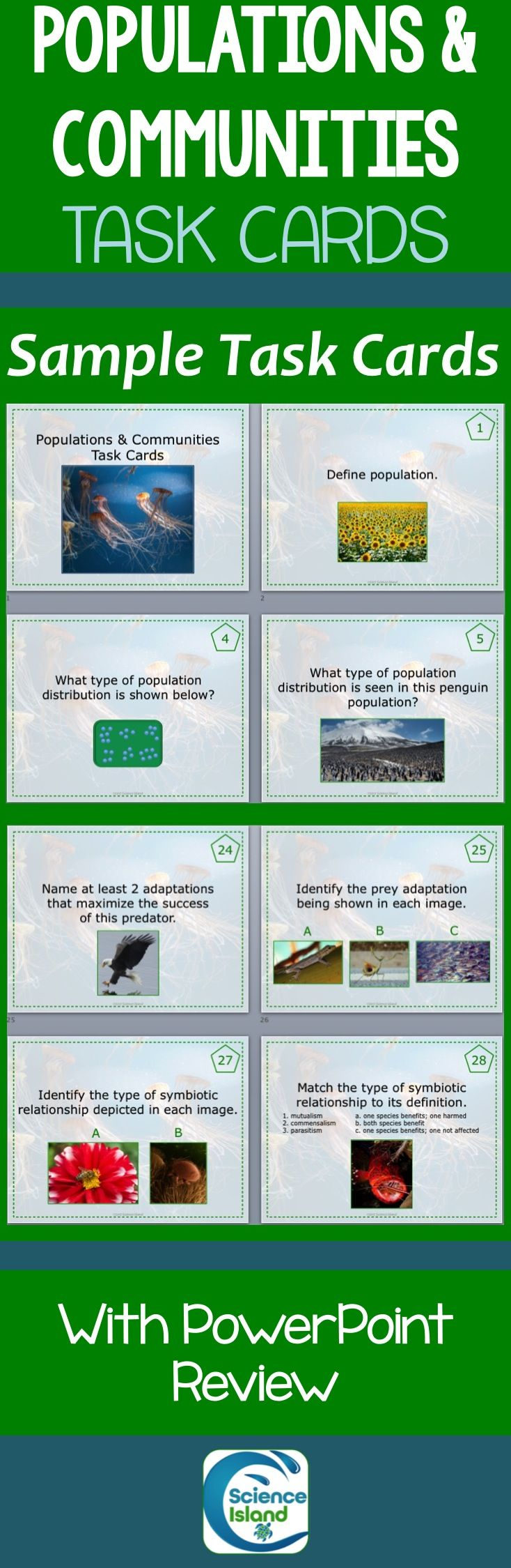 Great Task Cards for your Ecology Unit! Check out the preview for more details.