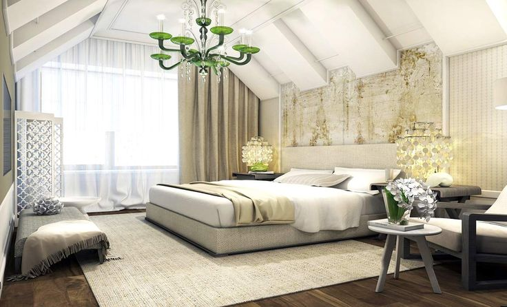 Best Attic Bedroom Designs Ideas  In most home the attic is the room upstairs that is extremely hot and is not finished. It has open floors and what little space it does have is used to...