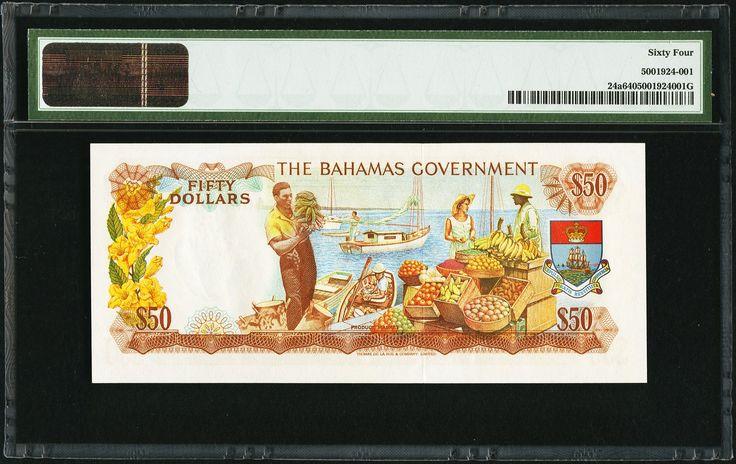 Bahamas Government $50 1965 - 2