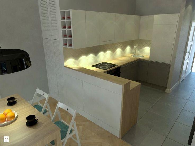 JÓZEFA / wielka metamorfoza mieszkania - zdjęcie od NIESKROMNE PROGI - Kuchnia - Styl Nowoczesny - NIESKROMNE PROGI