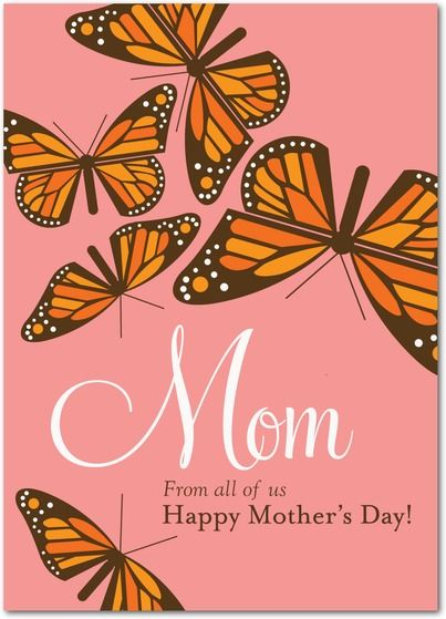 Mother Monarch - Mother's Day Greeting Cards in Posies | EleanorPosies, Mothers Day, Comics Book, Eleanor, Mothers Monarch, Greeting Cards, Mother'S Day, Products