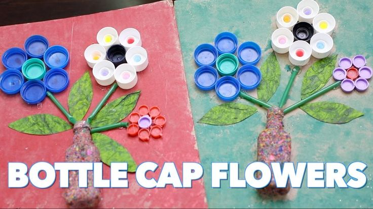 25 best ideas about waste material craft on pinterest for How to make bottle cap flowers