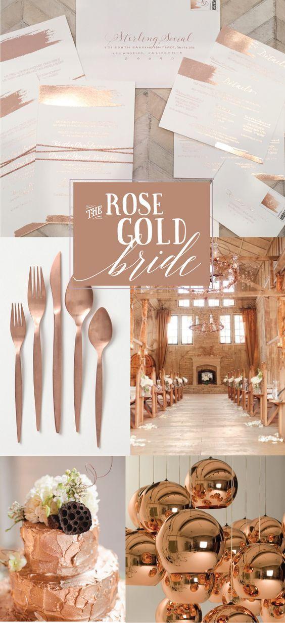 Detalles en oro rosa para bodas (27) - Curso de Organizacion del hogar