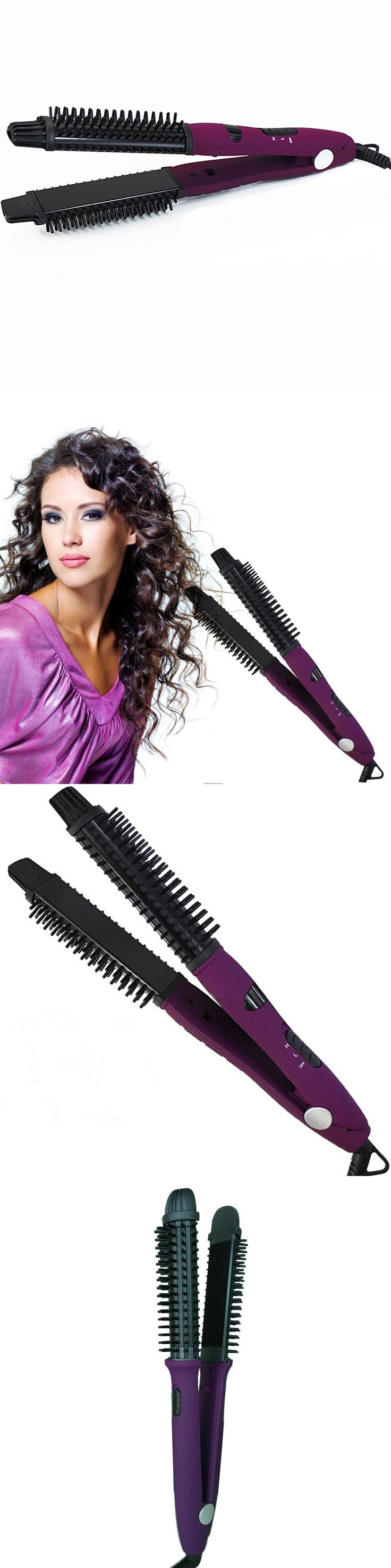CamryBeauty 5 IN 1 Ceramic Hair Straightener Comb  Hair Styler/Curler  Hot Brush and Ceramic Flat Iron/Straightener