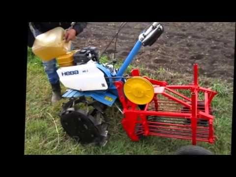 посадка картофеля мотоблоком Нева - YouTube