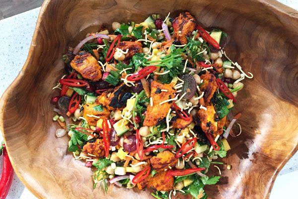 Bombay salad with tandoori vinaigrette