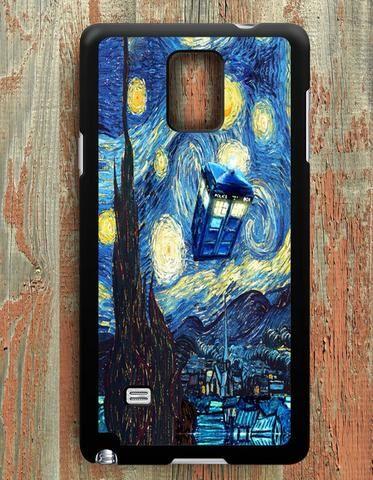 Starry Night Tardis Doctor Samsung Galaxy Note 4 Case