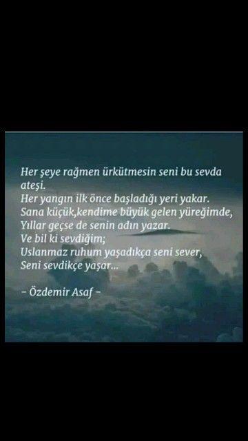 Her seye rağmen ürkütmesin seni bu sevda ateşi Özdemir Asaf