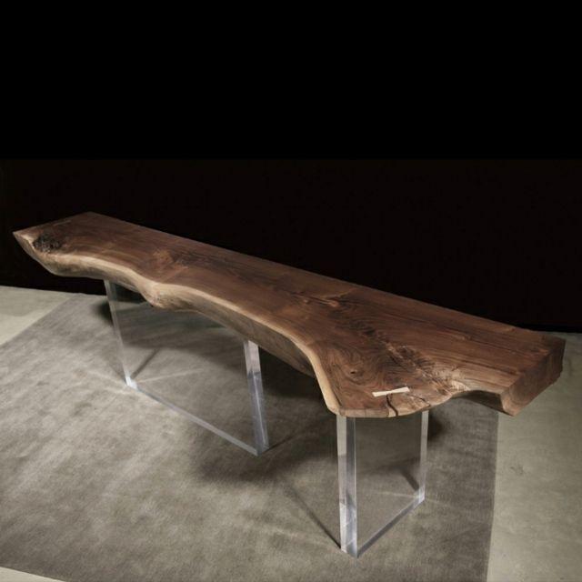 Wiederverwertetem Holz Tisch Platte Baumstamm Kunststoff