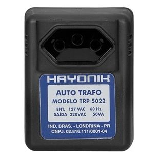 Transformador de Energia 220v para parede 110v - Hayonik TRP5022