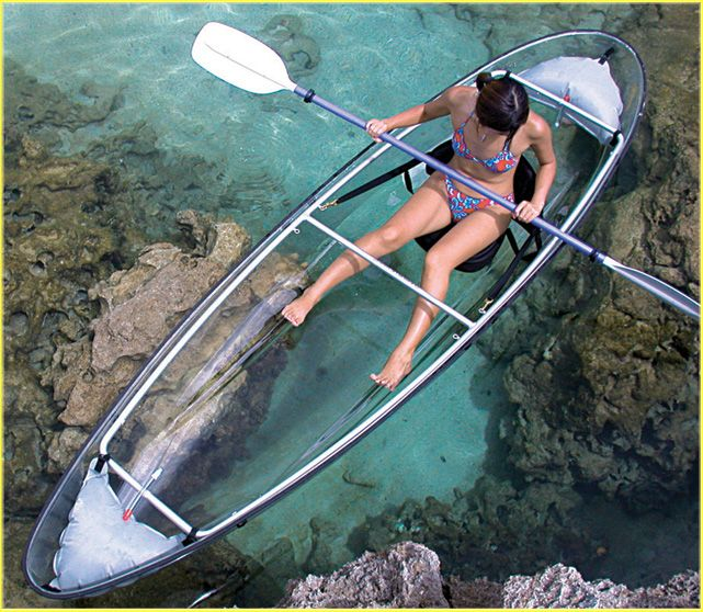 Transparent Canoe  coolest thing ever!!
