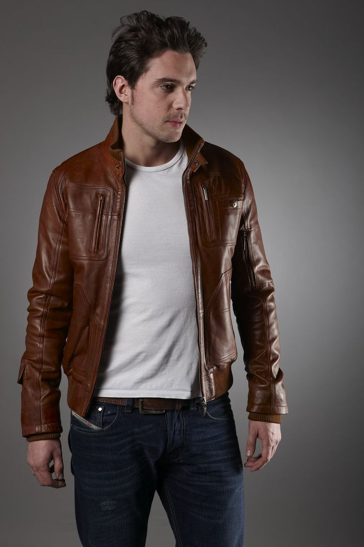 15 best Leather Jacket Men images on Pinterest | Men's jacket ...