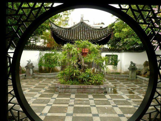 jardin feng shui chinois