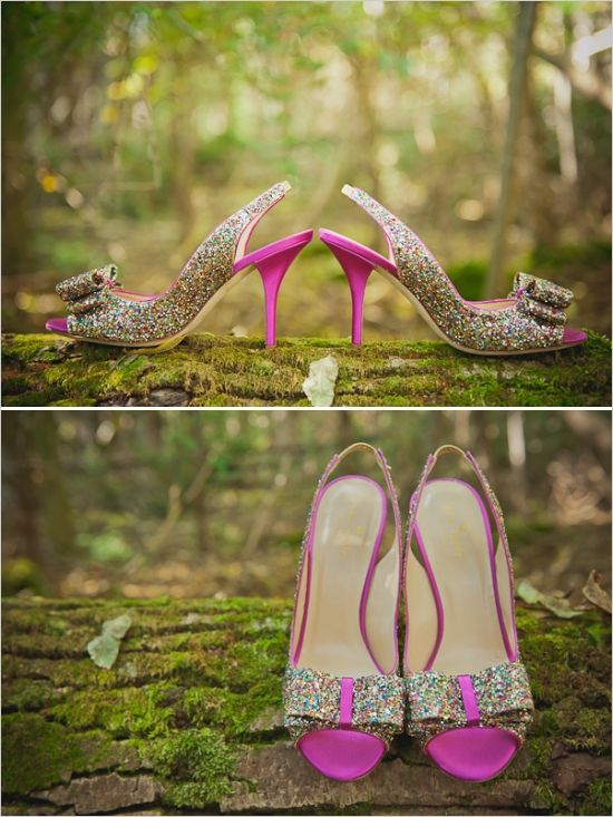 fairydust glitter wedding shoes #weddingshoes #bride #weddingchicks http://www.weddingchicks.com/2014/01/27/princess-bride-wedding-inspiration/
