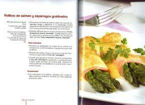 Rollitos de salmón y esparragos gratinados con salsa holandesa thermomix