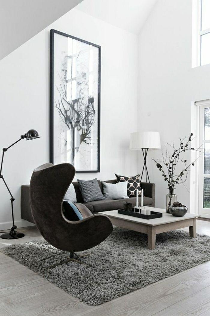 die besten 25+ sessel schwarz ideen auf pinterest | metallgestell ... - Sessel Wohnzimmer Design