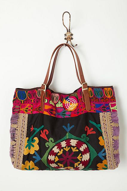 Embroidered Tabarka Shoulder Bag