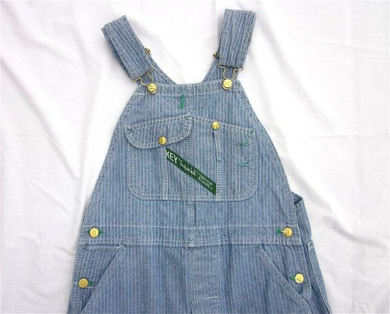 Vintage 1950s 60s Key Overalls Herringbone by FireflyVintage