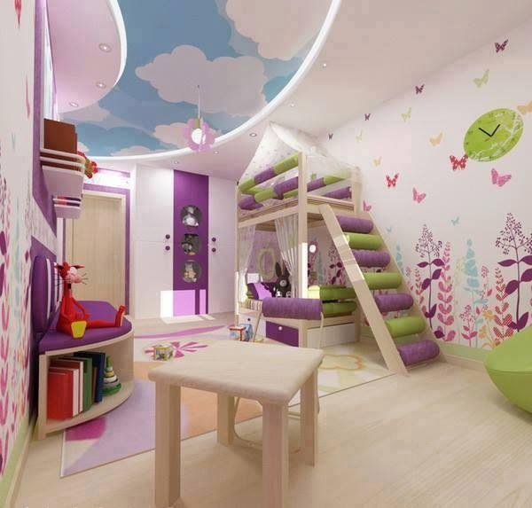 17 mejores im genes sobre habitaciones de ni a en - Alfombra habitacion nina ...
