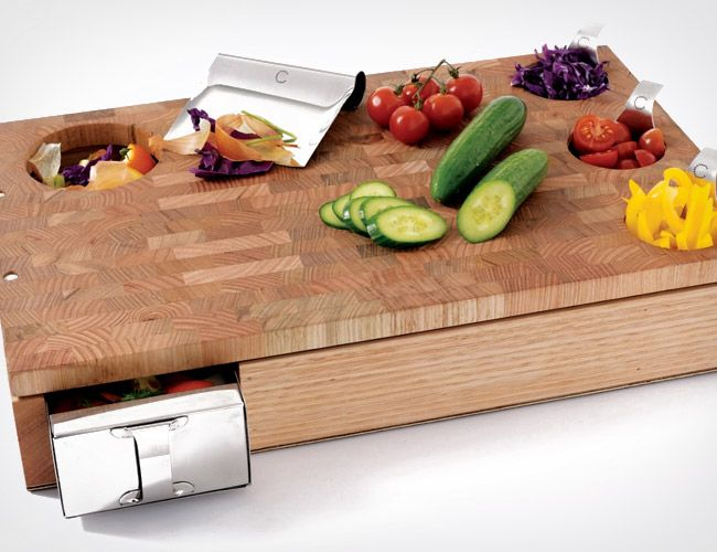 Curtis Stone Workbench Cutting Board. This looks incredibly practical/useful.