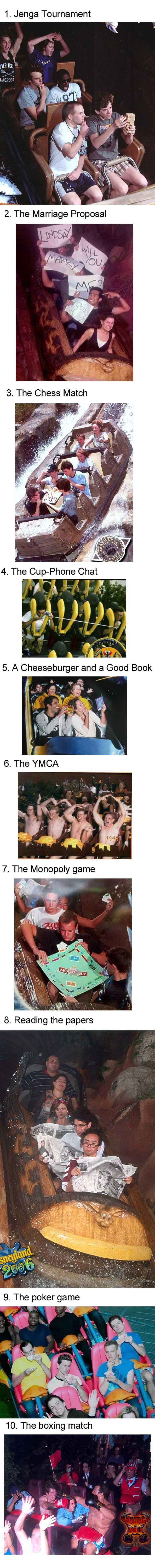 That last one though the guy in the middle was so unfortunate