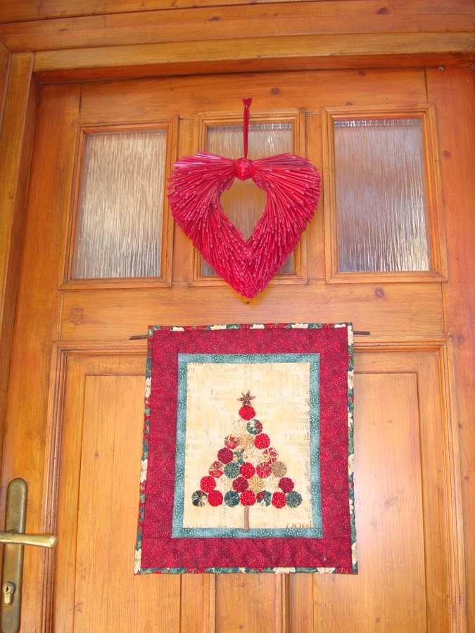 my house door at christmas