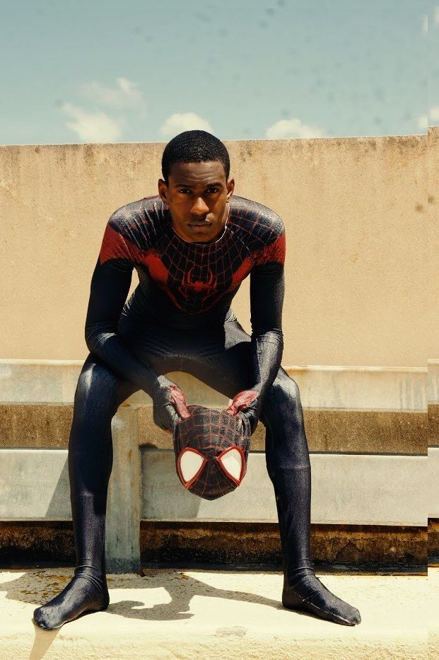 This is Nikolas A. Draper-Ivey. He's a 22-year-old comic-book artist from Lansing, Michigan, and his version of Spider-Man just went viral. | The Internet Is Totally Freaking Out Over How Amazing This Black Cosplayer Looks As Spider-Man