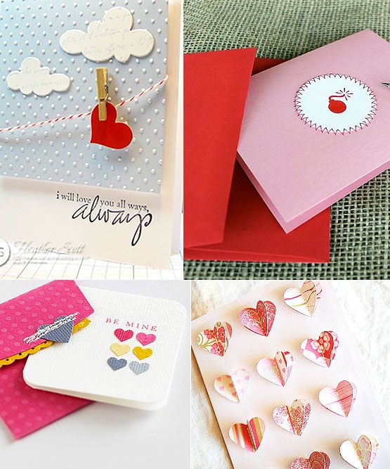 Nice Diy Card Making Ideas Part - 3: Cute Valentineu0027s Day DIY Card Ideas