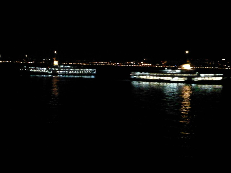 last ship of the day to and from Istanbul..