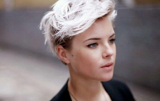Platinum courtes coupes de cheveux!