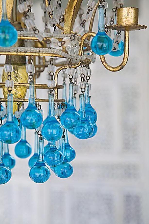 2010 2011 Oturma Odası Dekorasyonu {Turkuaz Renkli Tavan Avizesi} >> Kalzeno