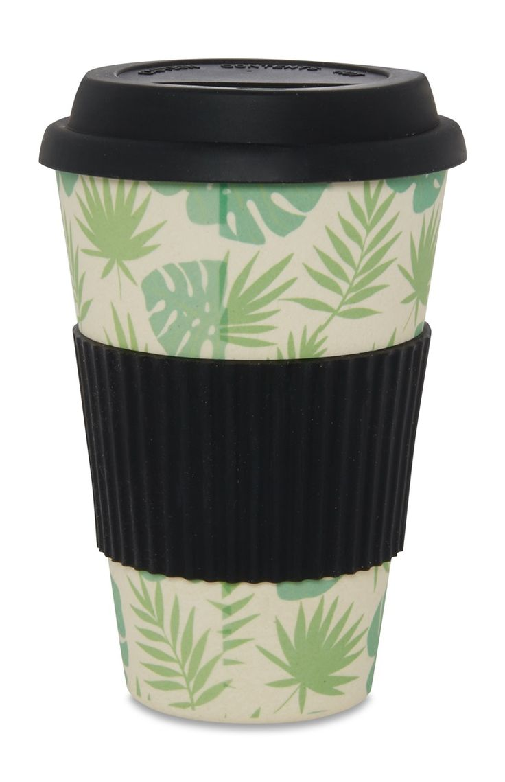 Black And Green Bamboo Thermal Cup