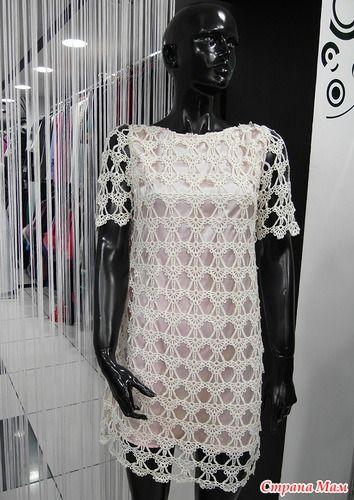 Мое воплощение платья по мотивам D&G - Все в ажуре... (вязание крючком) - Страна Мам