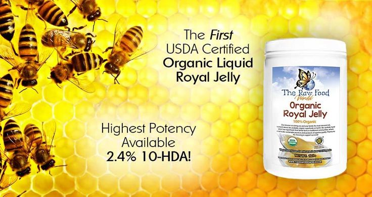 The First *Organic* & 2.4% 10-HDA Liquid Royal Jelly (Frozen)!   Royal Jelly encourages brain growth by stimulating neural stem cells and glial cells, which pr0tect the brain's neurons. This neurogenesis brain growth is why writer Andi Durkin shares that she feels Royal Jelly is ideal for children with Down's Syndrome. In the clinical study done with humans here, the conclusion was reached that Royal Jelly definitely improves mental health.