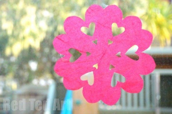 Tissuer Paper Heart Snowflakes